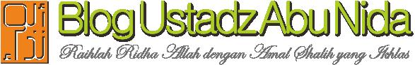 Blog Ustadz Abu Nida